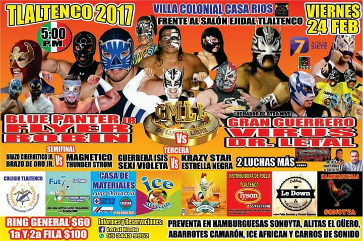 Poster-Mania!!! This Week's Lucha Shows!!! (2/20/17 thru 2